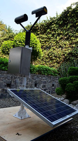 Energia solar estacion pluviometrica